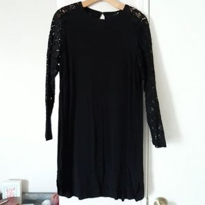 LBD with Lace Sleeves